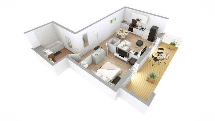 Appartements neufs Mérignac référence 3902 : aperçu n°2