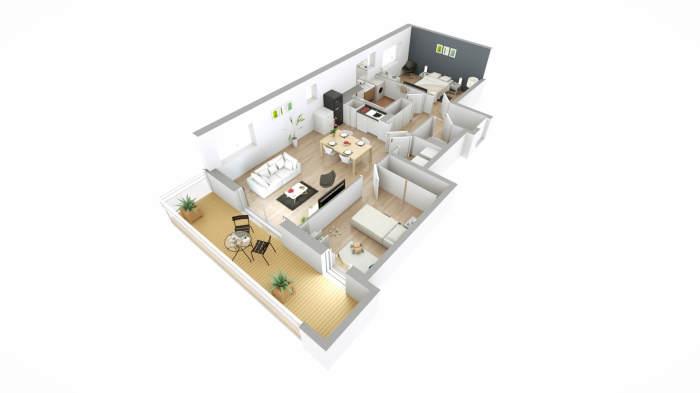 Appartements neufs Mérignac référence 3902 : aperçu n°3