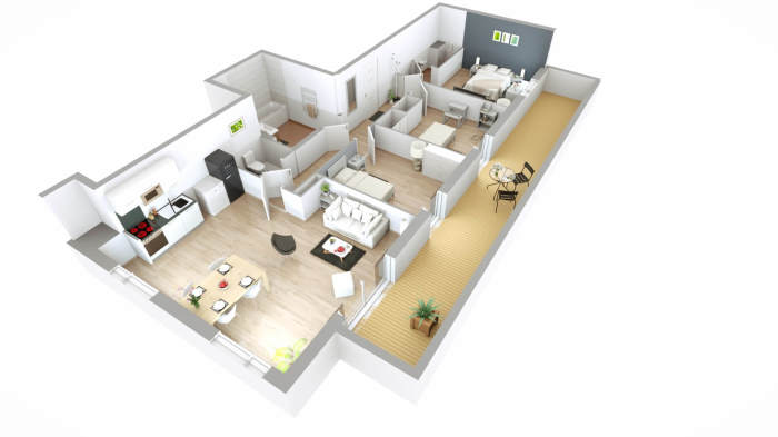 Appartements neufs Mérignac référence 3902 : aperçu n°4