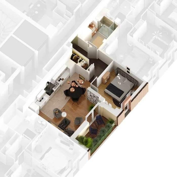 Appartements neufs St Jean référence 4184 : aperçu n°3