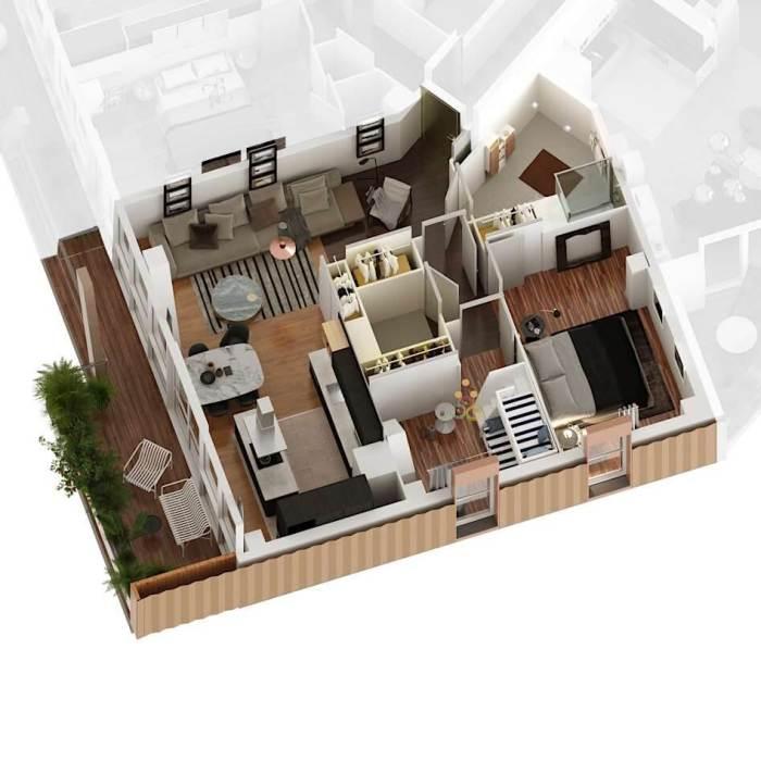 Appartements neufs St Jean référence 4184 : aperçu n°4