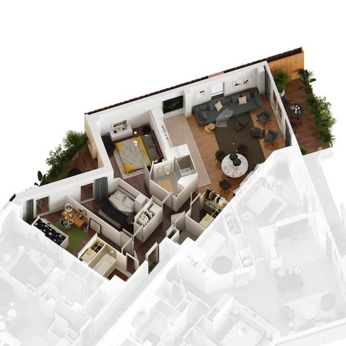 Appartements neufs St Jean référence 4184 : aperçu n°5