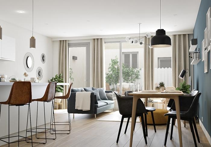 Appartements neufs Les Chartrons référence 4433 : aperçu n°1