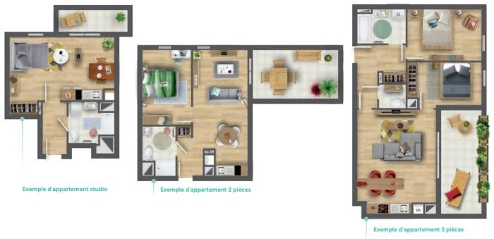 Appartements neufs Cenon référence 4823 : aperçu n°1
