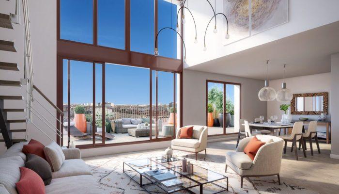 Appartements neufs Les Chartrons référence 4828 : aperçu n°1