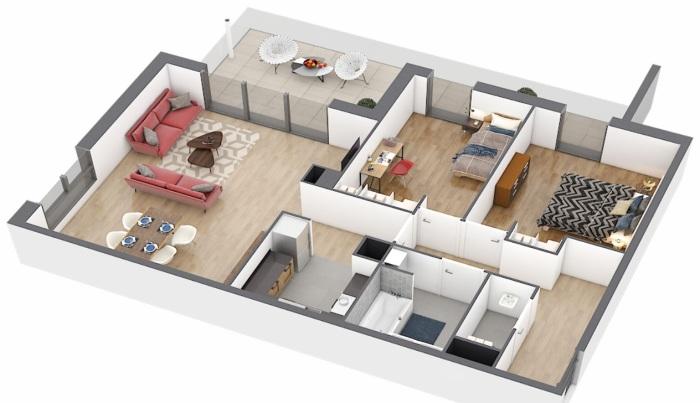 Appartements neufs Caudéran référence 4901 : aperçu n°2
