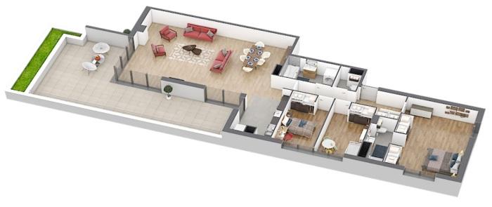 Appartements neufs Caudéran référence 4901 : aperçu n°3