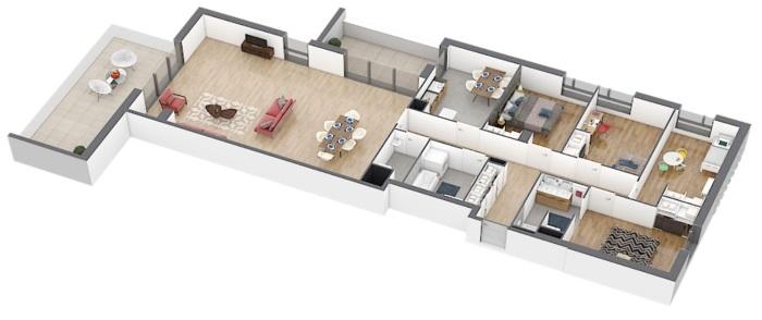 Appartements neufs Caudéran référence 4901 : aperçu n°4