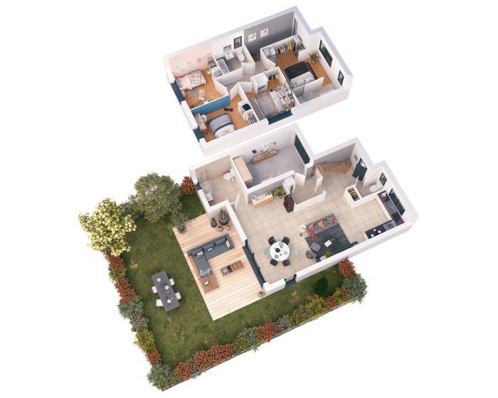 Maisons neuves Mérignac référence 5145 : aperçu n°1