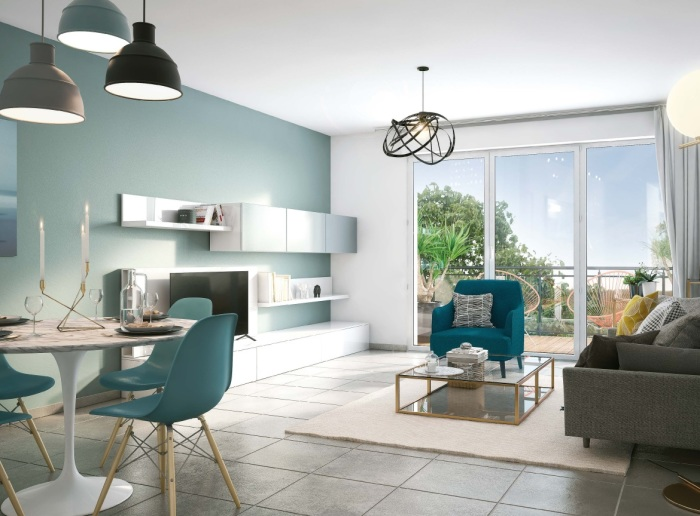Appartements neufs Pessac référence 5248 : aperçu n°2