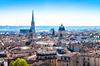 Vue panoramique de la ville de Bordeaux