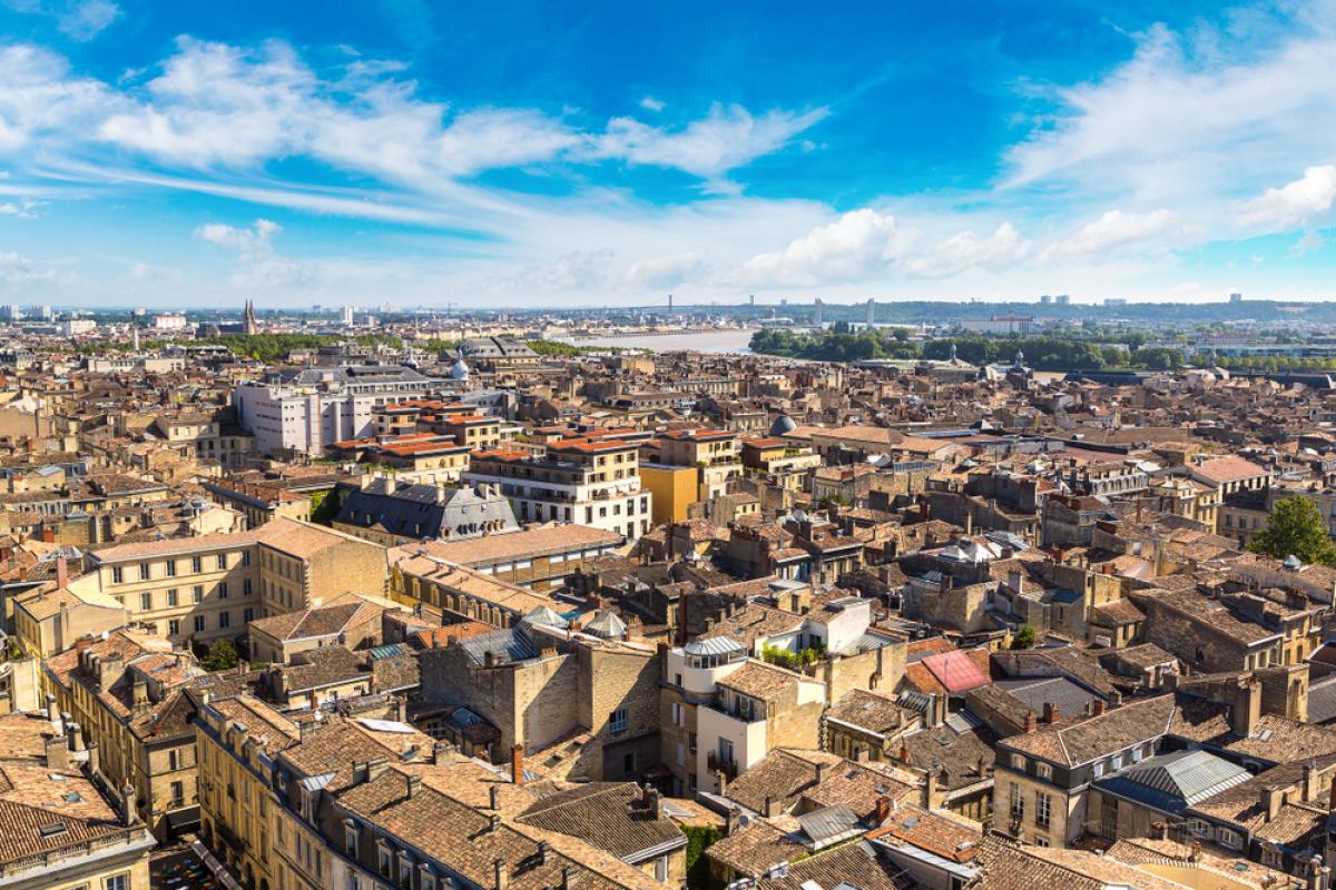 Relance promotion neuve - vue aérienne de Bordeaux