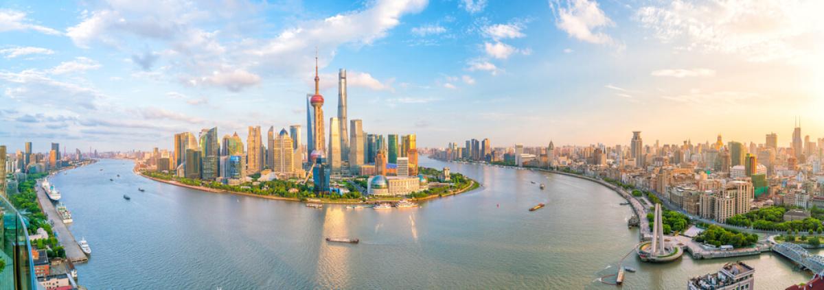 vue aerienne shanghai