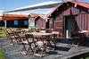 Immobilier à Arcachon - des cabanes de pêcheur réhabilitées en commerces de restauration