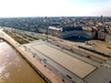 Le miroir d'eau de Bordeaux vue du ciel