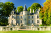 Arrivée du tramway à Parempuyre - le Château Clément Pichon dans la région du Médoc