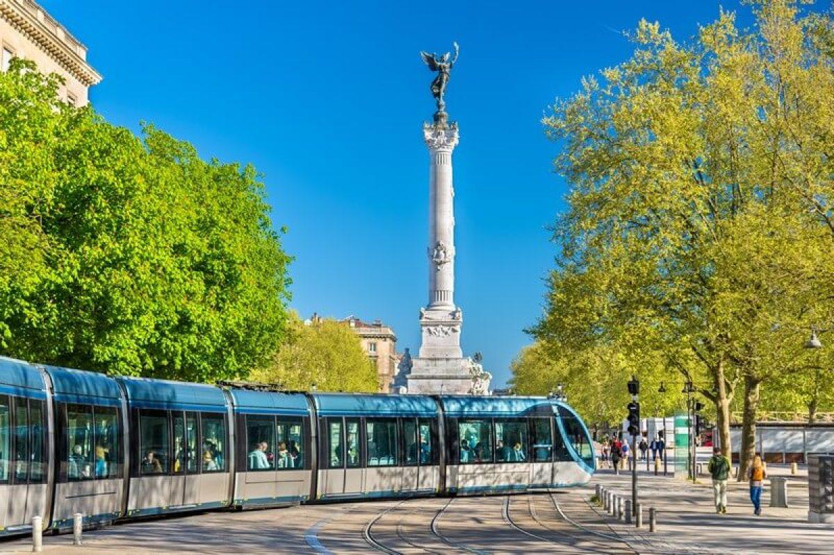 Rames de tramway à Bordeaux