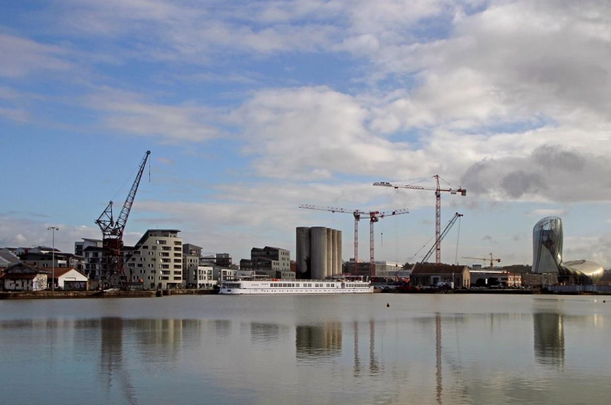 eco quartier Bordeaux Lac - Vue sur les Bassins à Flot à Bordeaux