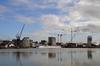 Chantier des Quais des Caps à Bordeaux - Vue sur le Bassin à flot