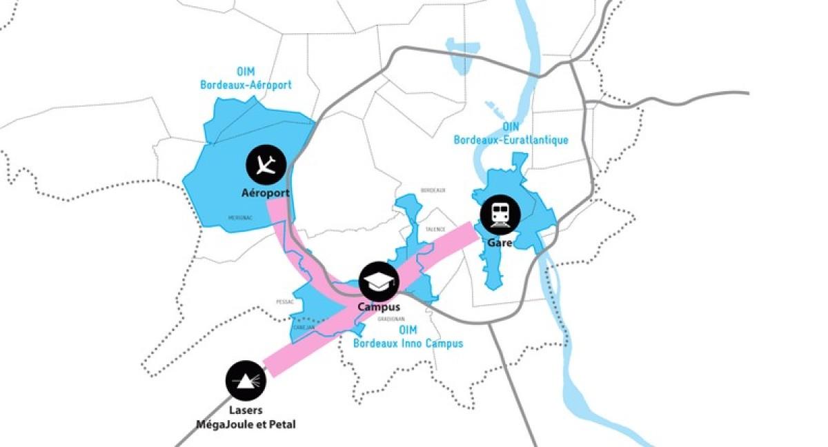 Pessac quartier annexe de Bordeaux - vue du plan OIM Bordeaux Inno Campus