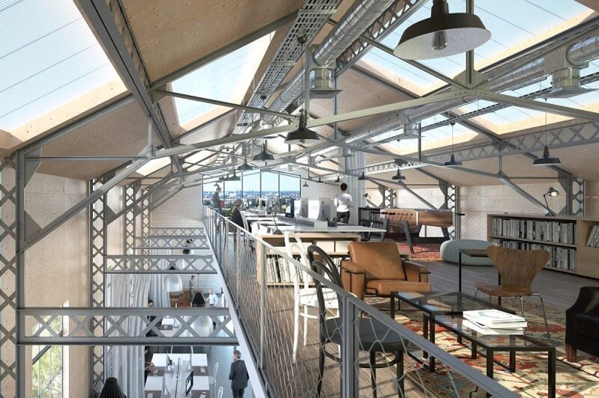 L'intérieur du restaurant de la Food Factory de Cenon