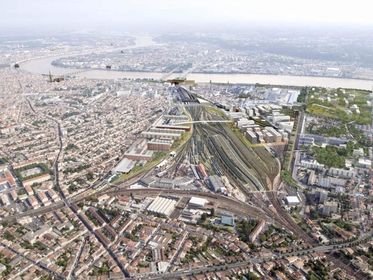le périmètre du projet Bordeaux Euratlantique