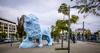 Le lion bleu dans le quartier La Bastide à Bordeaux