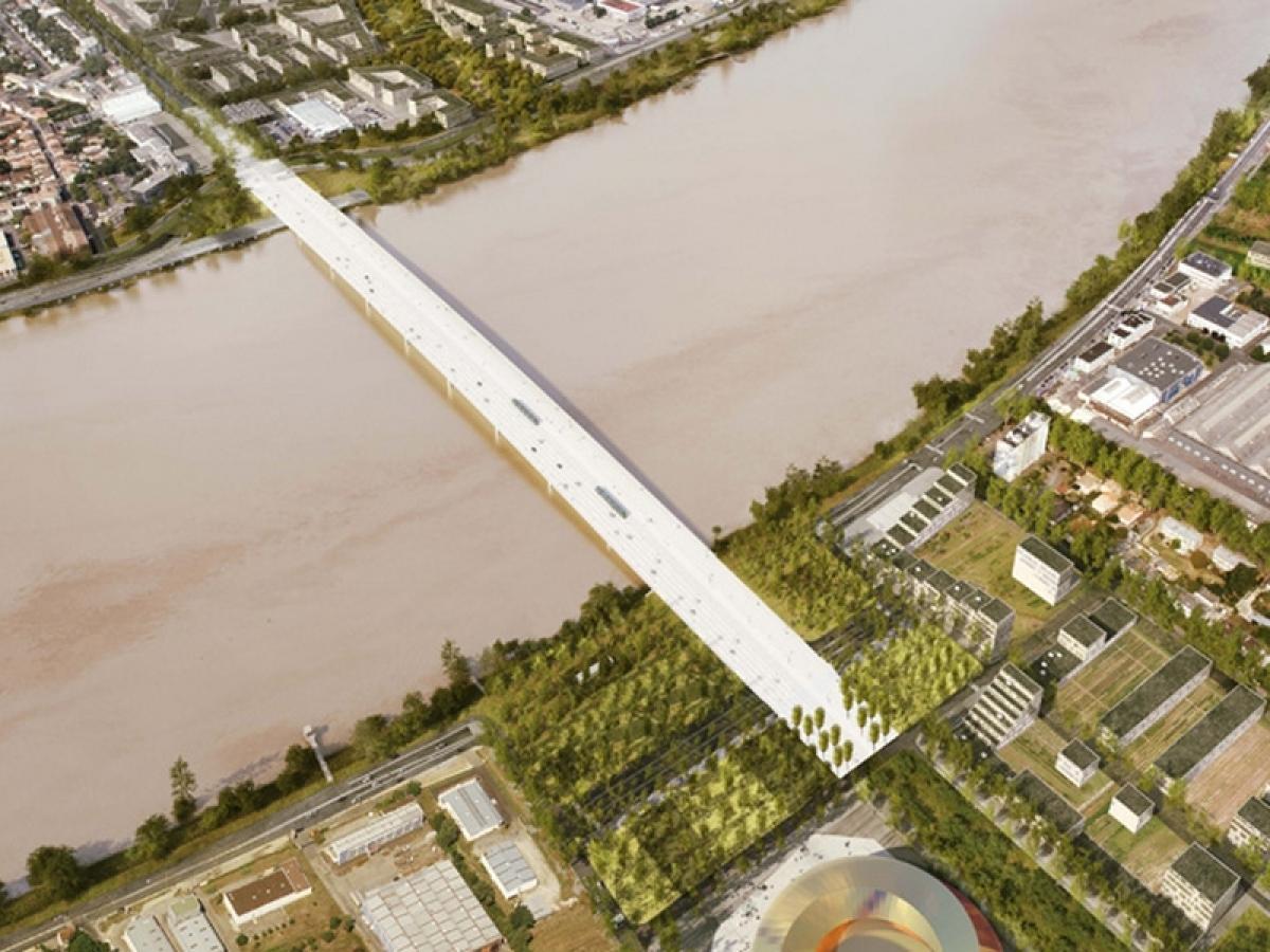 Le futur pont de Bordeaux