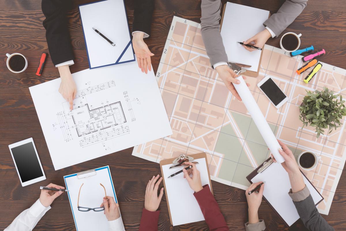 promoteur immobilier bordeaux - Plan d'architecture