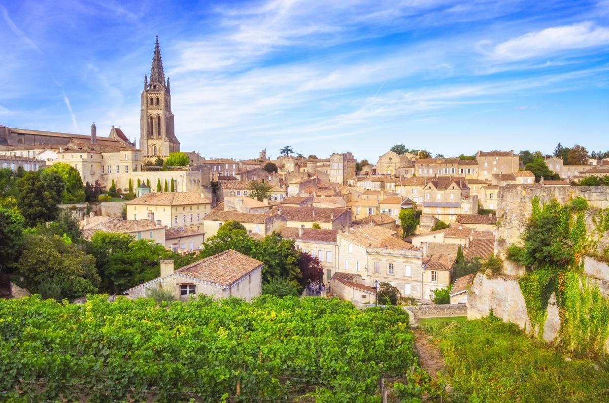 Bordeaux et le vin - le village de Saint-Émillion