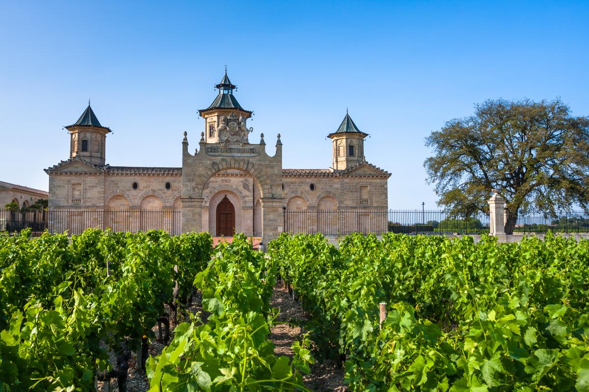Bordeaux et le vin - le château Cos d'Estournel près de Bordeaux