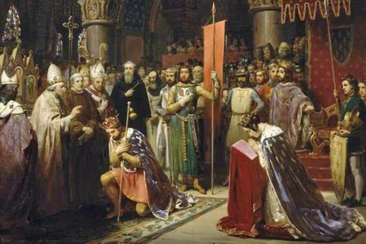 Personallités de Bordeaux - Aliénor d'Aquitaine et son époux Louis de France