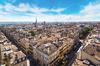 Vue aérienne et panoramique de la ville de Bordeaux