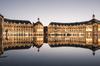 La place de la Bourse à Bordeaux et le miroir d'eau