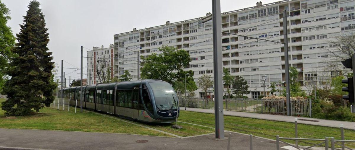 Projet Marne Mérignac-Soleil – vue le tramway à Mérignac