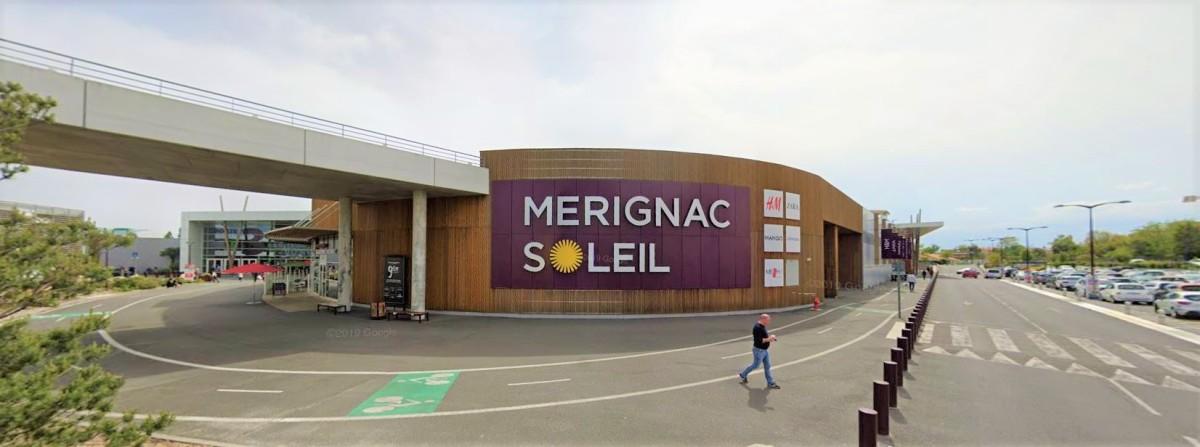 Projet Marne Mérignac-Soleil – Vue sur le centre commercial Mérignac-Soleil près de Bordeaux