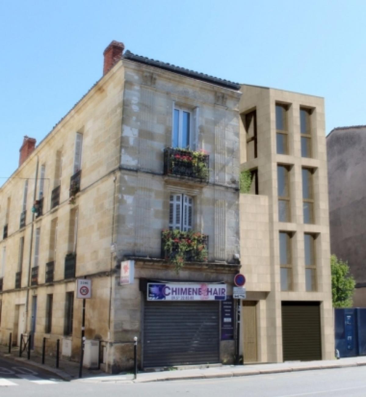 Angelys Group – vue sur une résidence réhabilitée dans le quartier des Capucins à Bordeaux