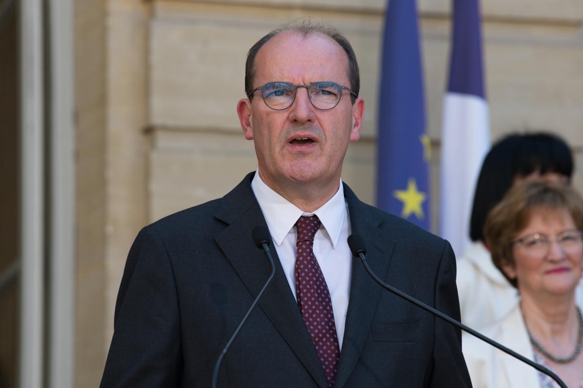 construction neuve - portrait de Jean Castex, Premier ministre du gouvernement français