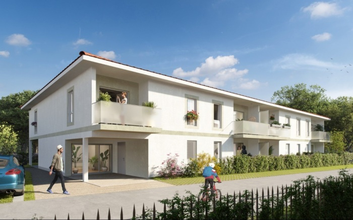 Appartements neufs Saint-Jean-d'Illac référence 5774 : aperçu n°2