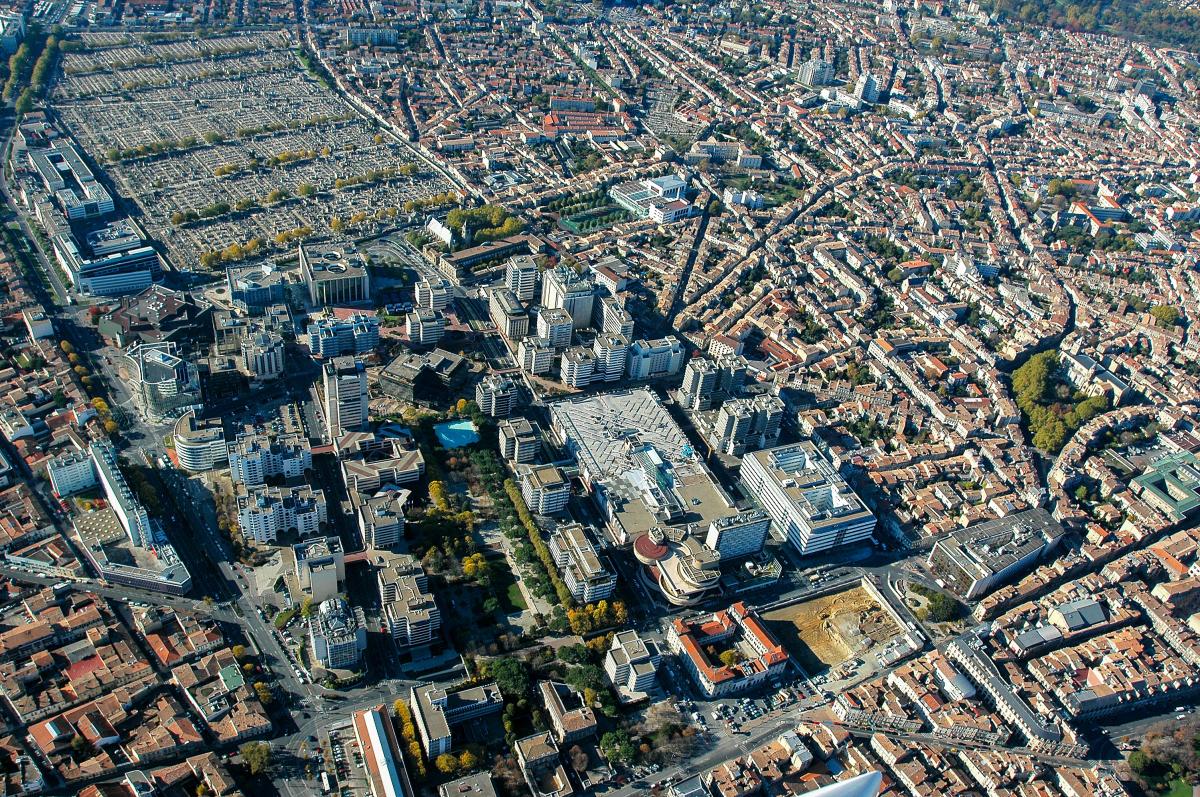 meriadeck bordeaux - Vue aérienne sur le quartier administratif de Mériadeck