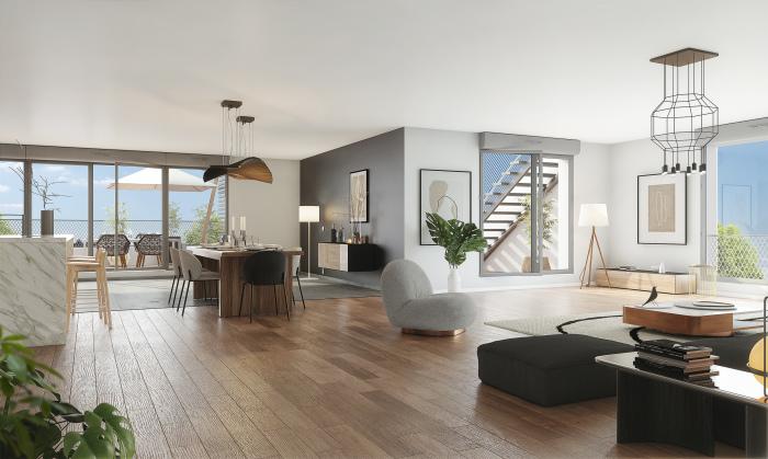 Maisons neuves et appartements neufs Les Chartrons référence 5845 : aperçu n°2