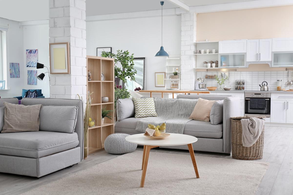 location logement bordeaux – Intérieur d'un appartement neuf