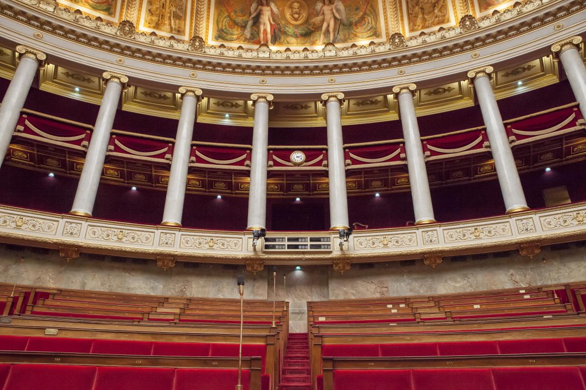 projet-de-loi-4d - l'hémicycle de l'Assemblée nationale en France
