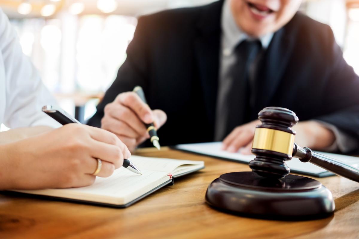 projet de loi 4d - deux hommes étudient un projet de loi