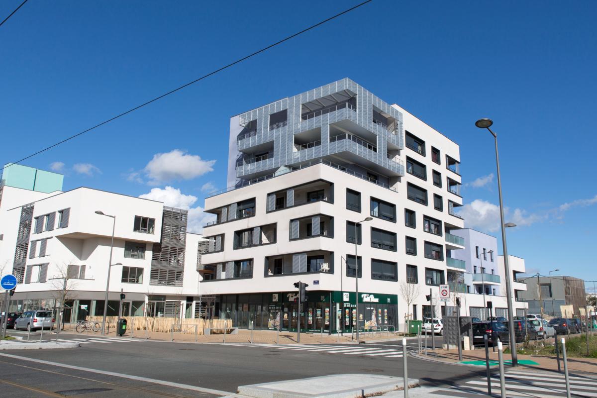 Immobilier écologique - vue sur l'écoquartier Ginko à Bordeaux