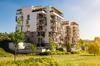 Immobilier écologique - vue sur une résidence au milieu d'un environnement verdoyant