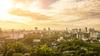 Immobilier écologique - vue sur des jardins urbains