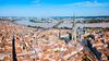 Vue panoramique aérienne de Bordeaux