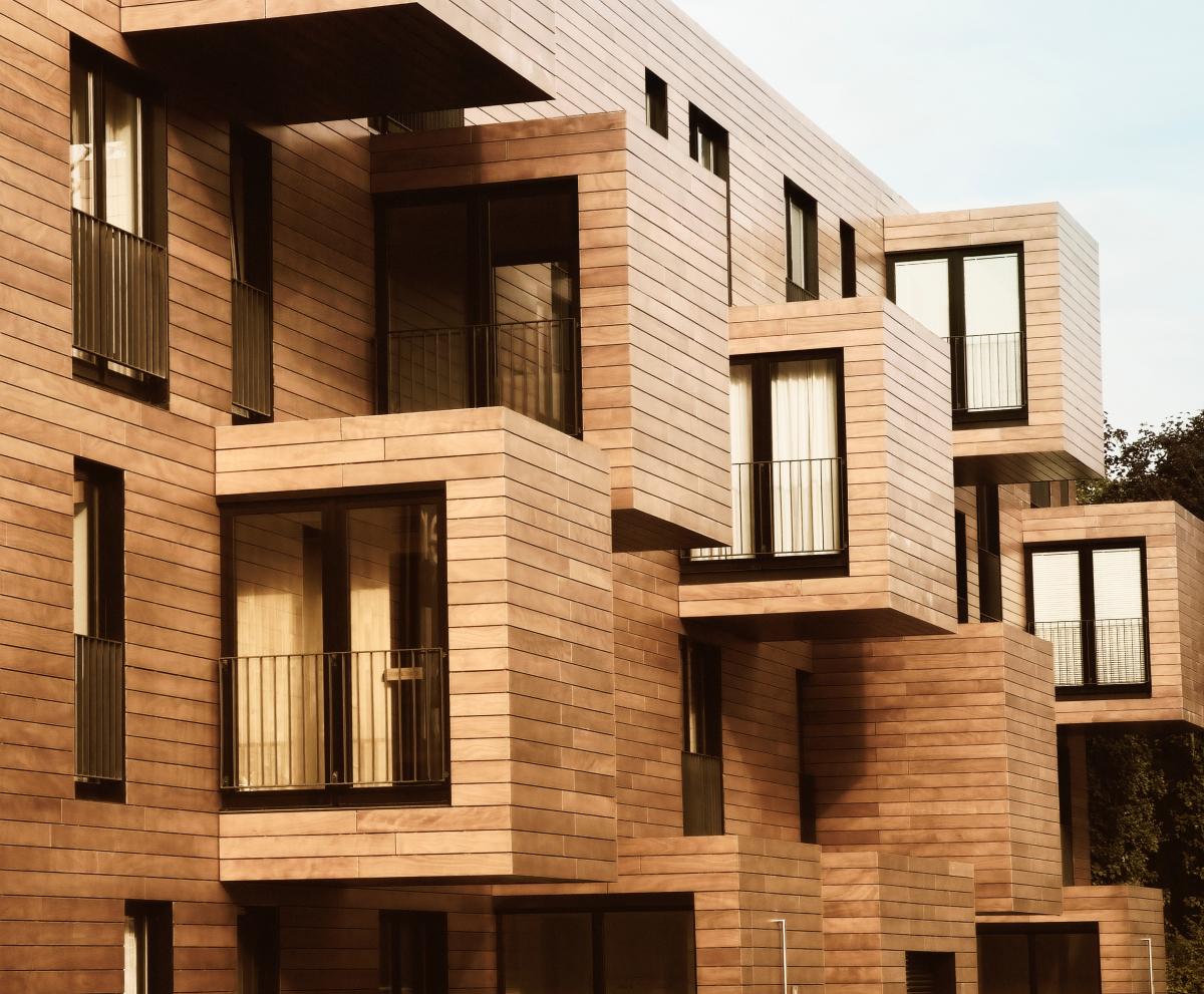 Maison modulable – Vue d'une résidence neuve en bois